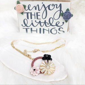 Trio Flower with Rhinestones Jewelry